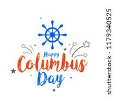 illustration of columbus day... | Shutterstock .eps vector #1179340525