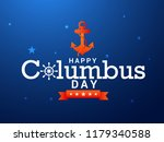 illustration of columbus day... | Shutterstock .eps vector #1179340588
