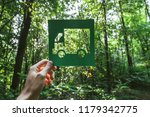 hand holding eco friendly green ... | Shutterstock . vector #1179342775