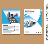 brochure template layout  cover ... | Shutterstock .eps vector #1179347098