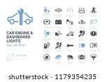 car engine and dashboard lights | Shutterstock .eps vector #1179354235