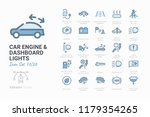 car engine and dashboard lights | Shutterstock .eps vector #1179354265