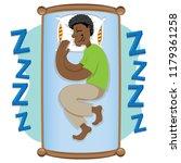 mascot ben person afro...   Shutterstock .eps vector #1179361258
