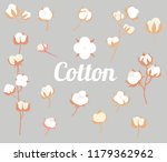 cotton plant flower in a flat... | Shutterstock .eps vector #1179362962