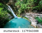 Small photo of Waterfall in the Neda. The Neda is a river in the western Peloponnese in Greece. Neda is the only river in Greece with a feminine name. It flows into the Gulf of Kyparissia, a bay of the Ionian Sea.