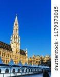 brussels  belgium   august 27 ... | Shutterstock . vector #1179373015