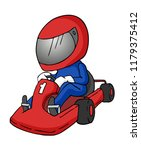 cartoon karting illustration | Shutterstock .eps vector #1179375412