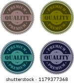 premium quality stamp tag logo... | Shutterstock .eps vector #1179377368