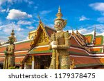 demon guardian in wat phra kaew ... | Shutterstock . vector #1179378475