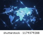 global network connection.... | Shutterstock .eps vector #1179379288