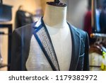 custom made suit on mannequin | Shutterstock . vector #1179382972
