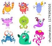 cartoon monsters. set of...   Shutterstock . vector #1179390505