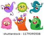 cartoon monsters collection.... | Shutterstock . vector #1179390508
