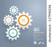 color gears infographics number ... | Shutterstock .eps vector #117940246