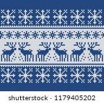 norwegian sweater deer. fair... | Shutterstock .eps vector #1179405202