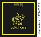 polo  horse sketch vector icon   Shutterstock .eps vector #1179405895