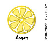 vector paper cut yellow lemon ... | Shutterstock .eps vector #1179413125