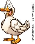happy cartoon duck. vector clip ... | Shutterstock .eps vector #1179418888