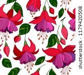 Seamless Pattern With Fuchsia...