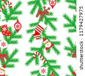 vector seamless flat pattern... | Shutterstock .eps vector #1179427975