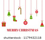 merry christmas greeting card... | Shutterstock .eps vector #1179432118
