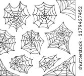 hand drawn spider web halloween ... | Shutterstock .eps vector #1179437452