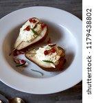 baked rustichomemade  pears... | Shutterstock . vector #1179438802