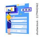 businesswoman work in a team... | Shutterstock .eps vector #1179442462