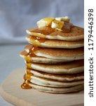 homemade vanilla buttermilk... | Shutterstock . vector #1179446398