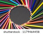 circular frame made of colored... | Shutterstock . vector #1179464458