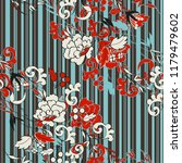 seamless pattern with vintage...   Shutterstock .eps vector #1179479602