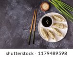 asian dumplings  soy sauce ... | Shutterstock . vector #1179489598