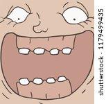 joking face illustration | Shutterstock .eps vector #1179499435