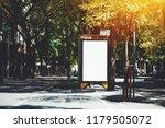 vertical empty billboard... | Shutterstock . vector #1179505072
