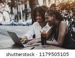 interracial couple  black... | Shutterstock . vector #1179505105