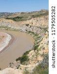the little missouri river in... | Shutterstock . vector #1179505282