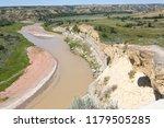 the little missouri river in... | Shutterstock . vector #1179505285