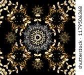 golden pattern on black  brown... | Shutterstock .eps vector #1179506368