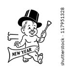 new year's baby   retro clipart ...   Shutterstock .eps vector #117951328
