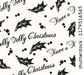 have a holly jolly christmas...   Shutterstock .eps vector #1179516565