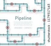 pipeline design background... | Shutterstock .eps vector #1179517165