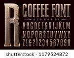 vector alphabet font with a... | Shutterstock .eps vector #1179524872