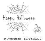 happy halloween. black text on...   Shutterstock .eps vector #1179526372