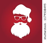 santa claus with beard and... | Shutterstock .eps vector #1179538495