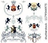 collection of vector heraldic...   Shutterstock .eps vector #1179544975
