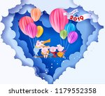 color paper cut design and... | Shutterstock .eps vector #1179552358