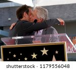 Small photo of LOS ANGELES - SEP 13: Eric McCormack, Michael Douglas at the Eric McCormack Star Ceremony on the Hollywood Walk of Fame on September 13, 2018 in Los Angeles, CA