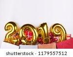 golden new year 2019 inflatable ... | Shutterstock . vector #1179557512