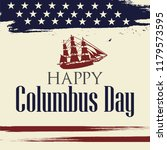 happy columbus day. the trend... | Shutterstock .eps vector #1179573595