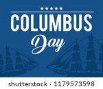 happy columbus day. the trend... | Shutterstock .eps vector #1179573598